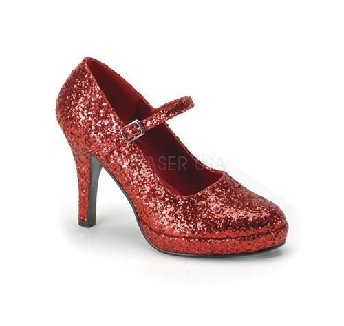 Funtasma Prinzessinnen-Schuhe Contessa-50 Glitter rot Gr. 37