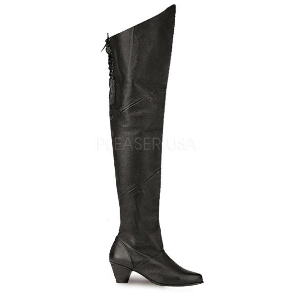 SALE! Funtasma Damen Kostüm Piraten-Stiefel Maiden-8828 Echt Leder schwarz