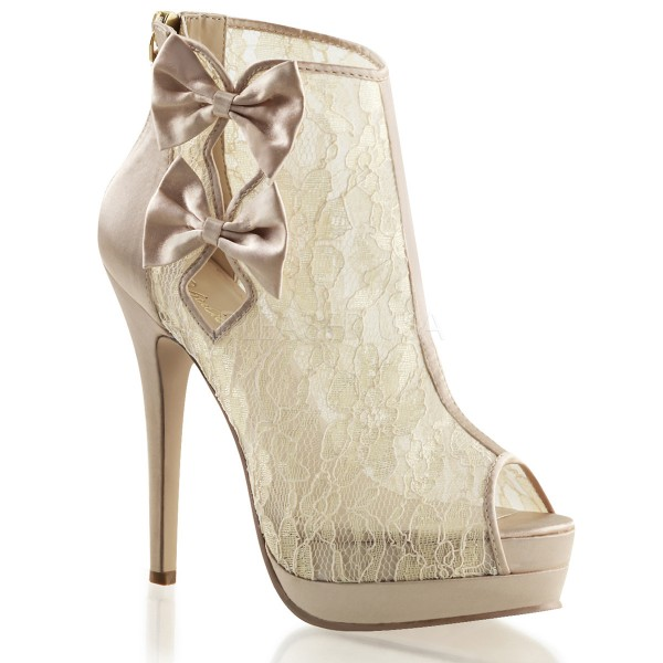 SALE! Fabulicious Damen Plateau-Ankle-Bootie Bella-28 champagne