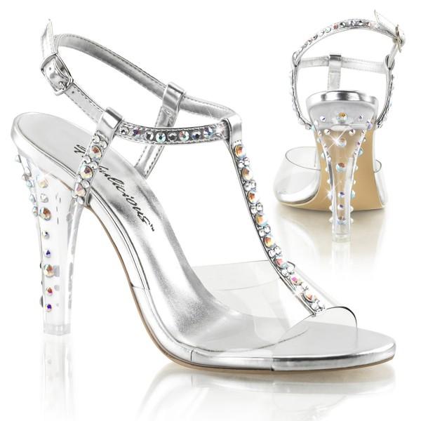 SALE! Fabulicious Damen High Heels Sandaletten mit Straß Clearly-426 silber