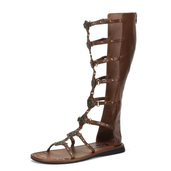 Funtasma Gladiatoren-Sandalen für Herren Roman-15 braun