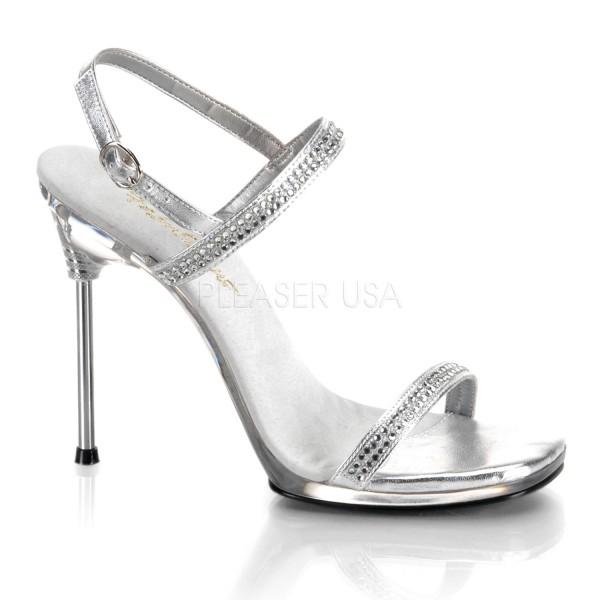 SALE! Fabulicious Damen High Heels Straß Sandaletten Chic-17 silber