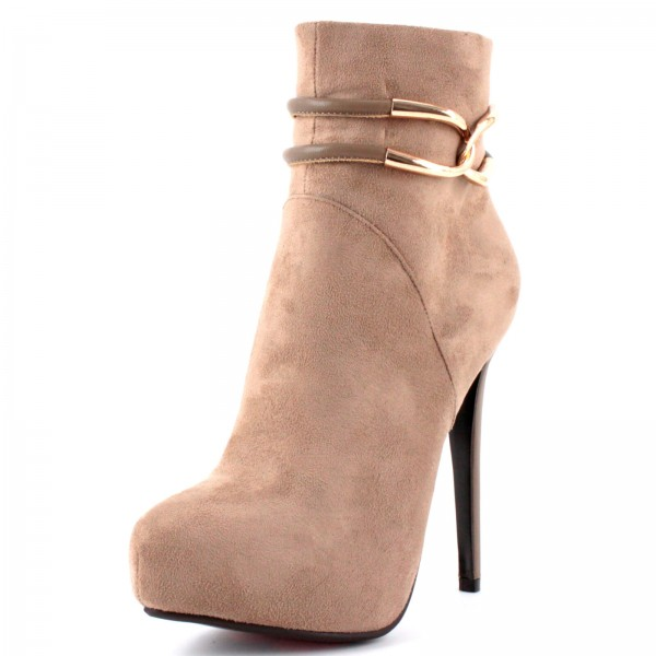 Plateau-Stiefeletten WHOA GIRL Taupe by Luichiny