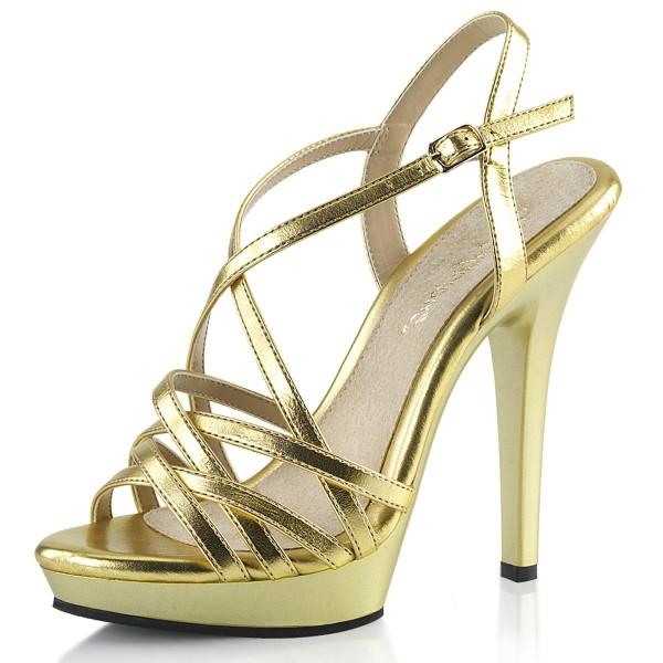 Fabulicious Plateau Riemchen-Sandaletten Lip-113 Gold metallic