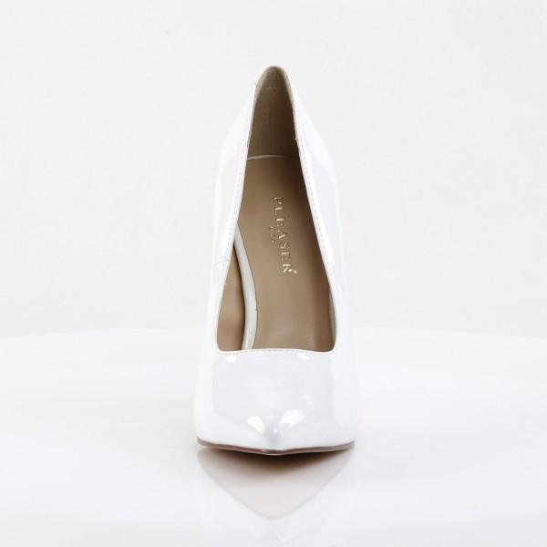 PleaserUSA High Heels Pumps Amuse-20 Lack weiß