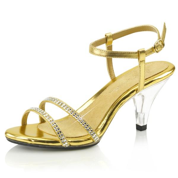 Fabulicious Damen Sandaletten Belle-316 gold für Hochzeit Fest Gala