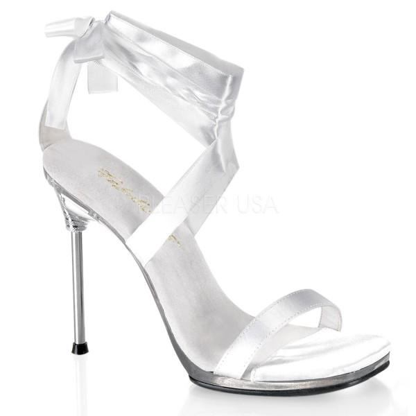 SALE! Fabulicious Damen Brautschuhe Hochzeitschuhe Chic-14 weiß