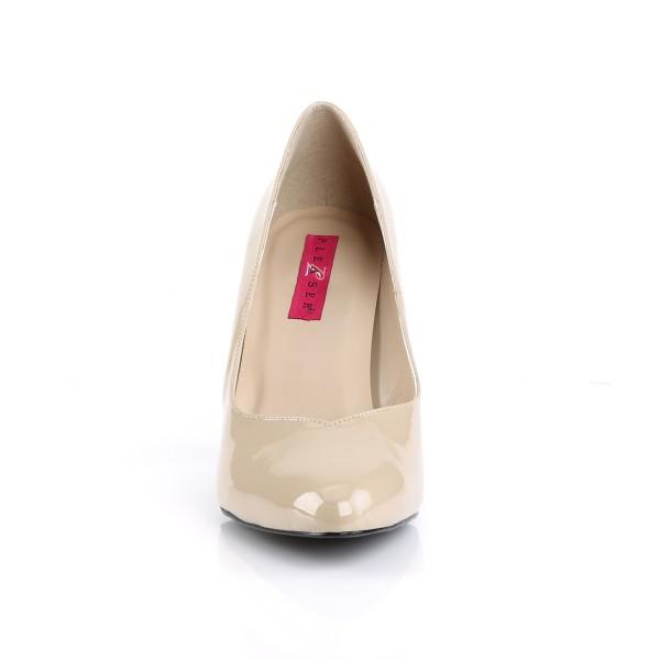 Pleaser Pink Label X-Size-Pumps Dream-420 Lack creme