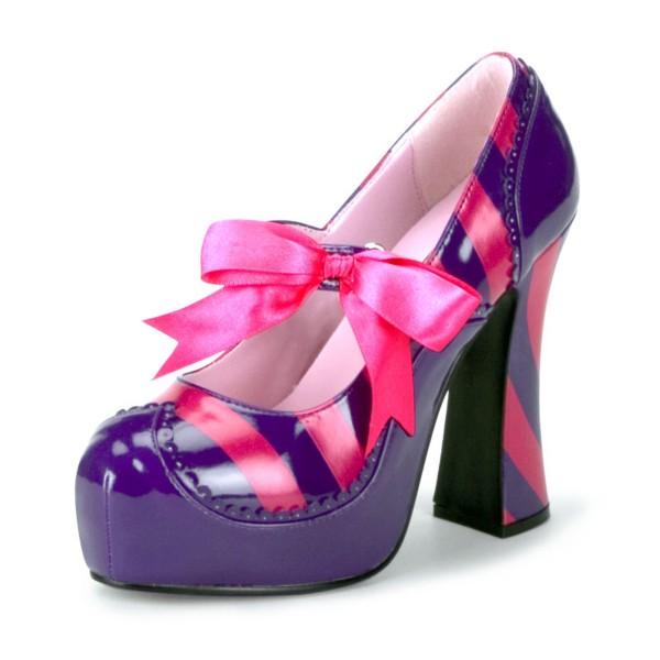 Funtasma Girlie-Plateau-Pumps Kitty-32 purple/pink
