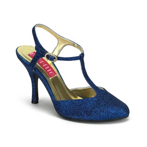 SALE! Bordello Damen Glitzer-Sandaletten Violette-12G Glitter blau