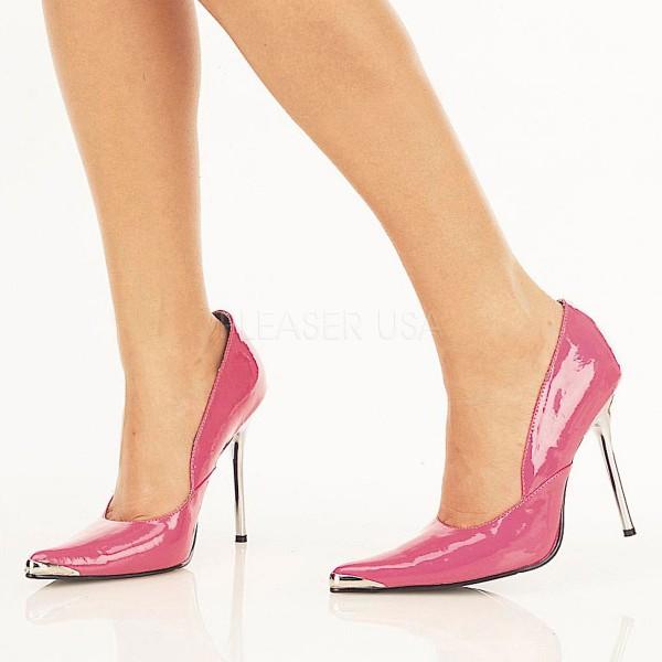 SALE! PleaserUSA Damen High Heels Pumps mit Metallabsatz Heat-01 hot pink