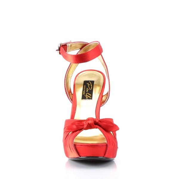 PinUp Couture High-Heels Sandaletten Bettie-04 rot