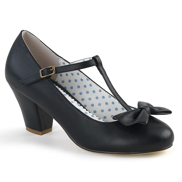 PinUp Couture Damen Spangen Pumps mit Schleife Wiggle-50 schwarz