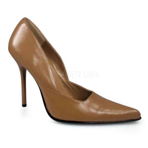 SALE! PleaserUSA Damen High Heels Pumps Milan-01 camel leather