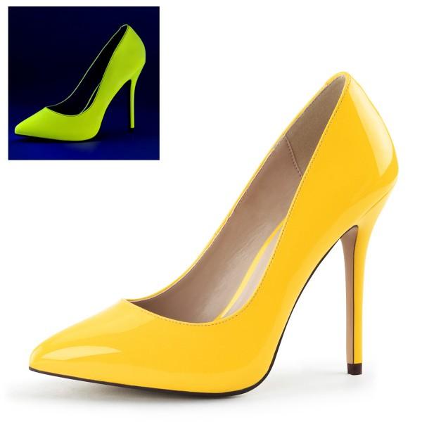 PleaserUSA High Heels Pumps Amuse-20 Neon gelb