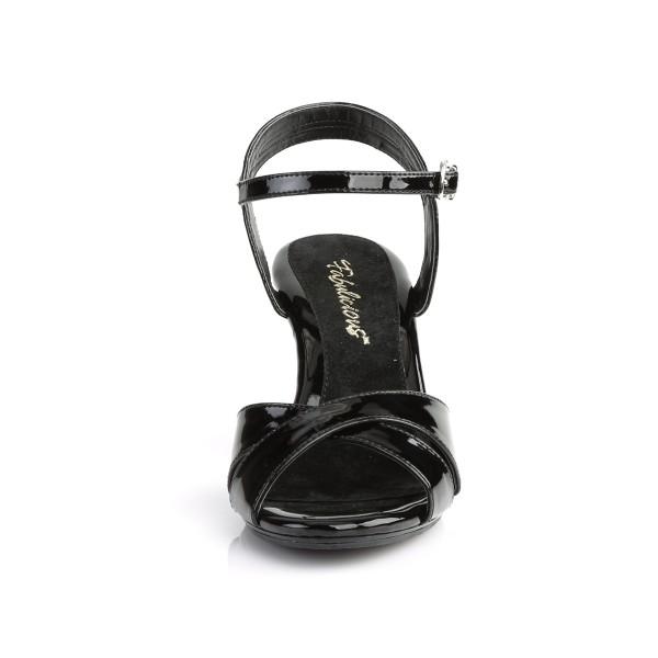 Fabulicious Damen Sandalen Sandaletten Belle-315 Lack schwarz