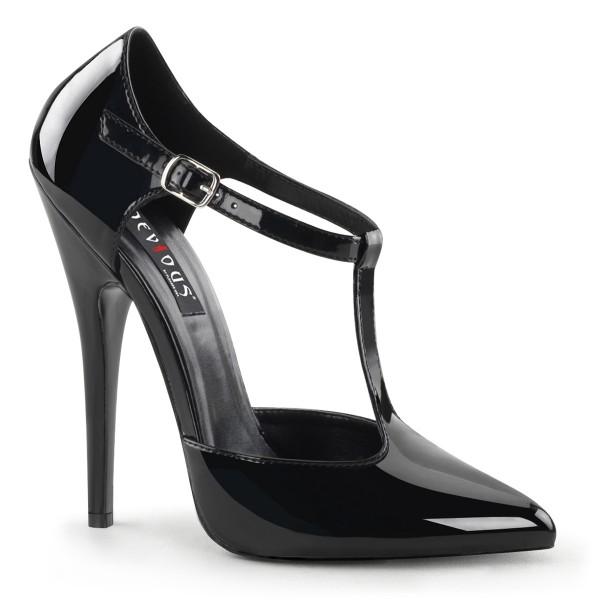 SALE! Devious Damen High-Heel-Pumps Domina-415 Lack schwarz