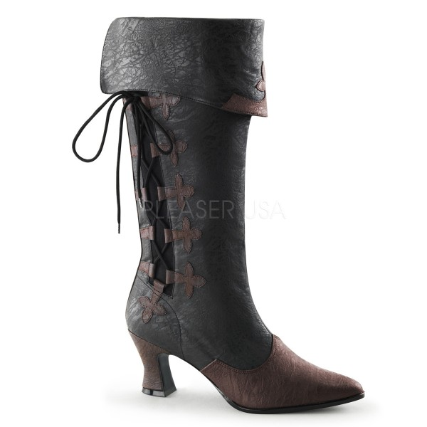 SALE! Funtasma Damen Renaissance-Stiefel Victorian-128 schwarz-braun