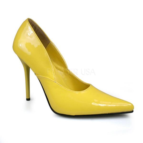 SALE! PleaserUSA Spitze Damen High Heels Pumps Milan-01 gelb