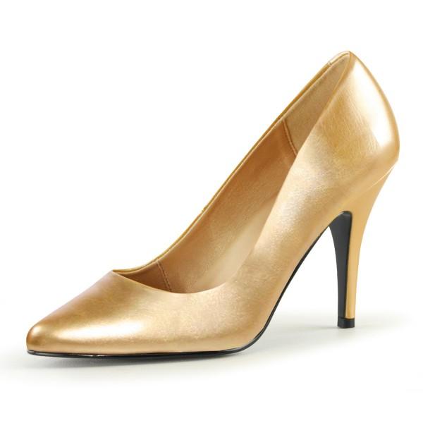 PleaserUSA High Heel-Pumps Vanity-420 gold