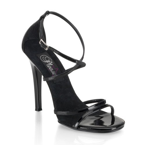 SALE! PleaserUSA Damen Sandaletten Gala-41 Lack schwarz