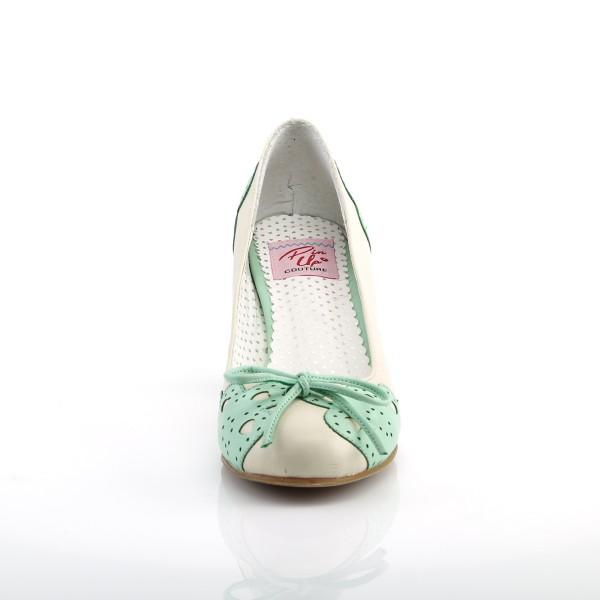 PinUp Couture Damen Pumps mit Herzchen Wiggle-17 creme-mint