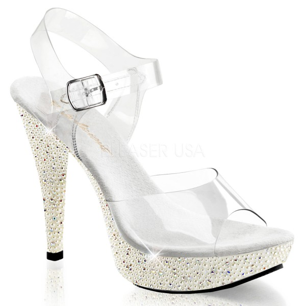 SALE! Fabulicious Damen High Heels Sandaletten Cocktail-508PRL ivory Gr. 40