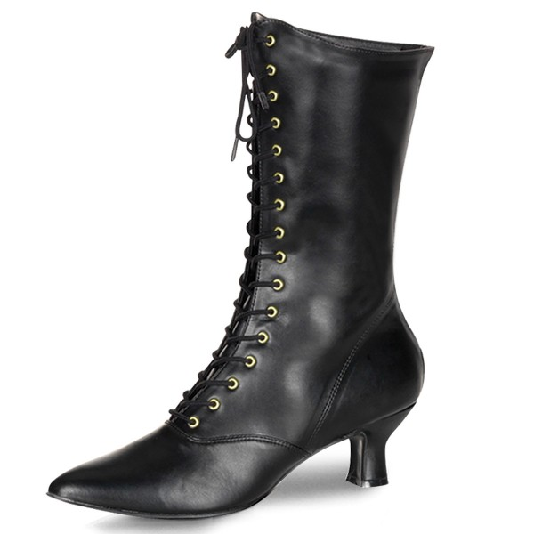 Funtasma Renaissance-Stiefel Victorian-120 schwarz