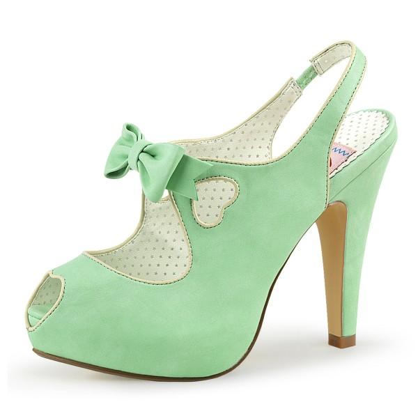 Pin Up Couture Damen Peep Toe Slingback Pumps Bettie-03 mint