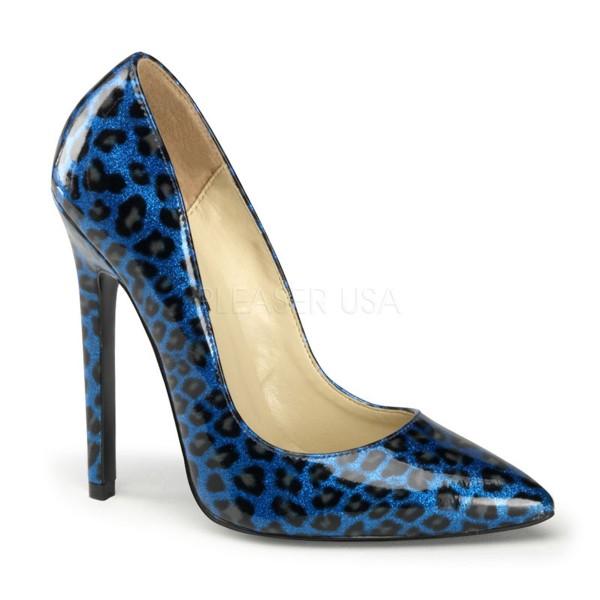 SALE! PleaserUSA Damen High Heels Pumps Sexy-20 Leo blau