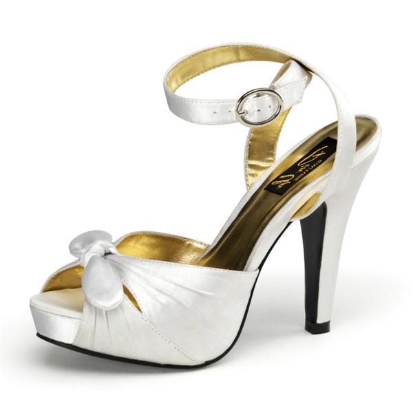 SALE! PinUp Couture High-Heels Sandaletten Bettie-04 elfenbein Gr.38