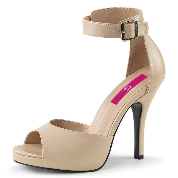 Pink Label Big Size Sandalen Sandaletten Eve-02 creme matt Übergröße