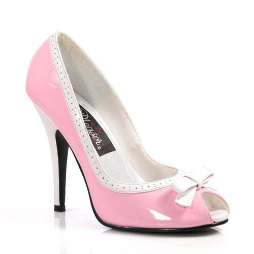 SALE! PleaserUSA High Heels-Pumps Seduce-218 babypink/weiß
