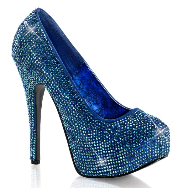 Bordello InStyle-Pumps Teeze-06R blau