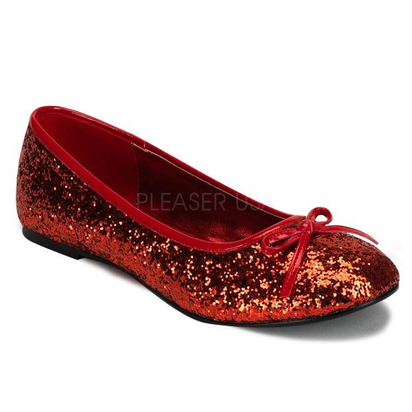 SALE! Funtasma Damen Glitzer-Ballerinas Star-16G rot