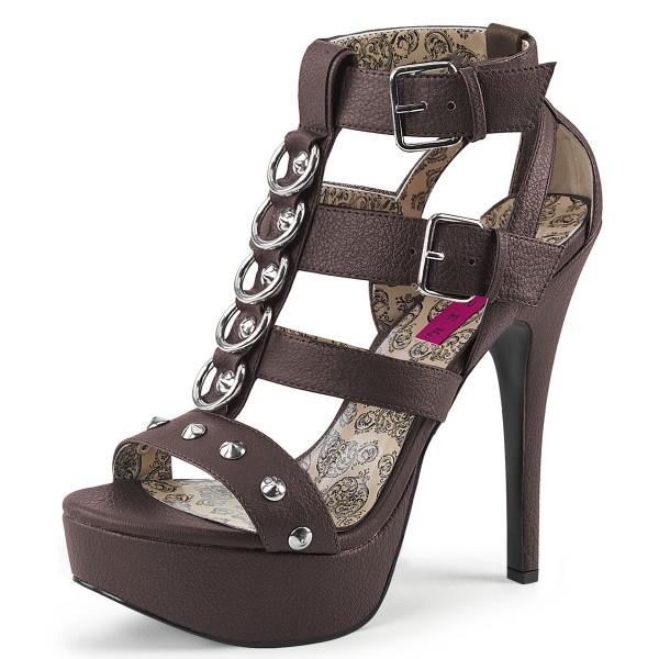 Pink Label Damen Platform Sandalen in großen Größen Teeze-42W braun