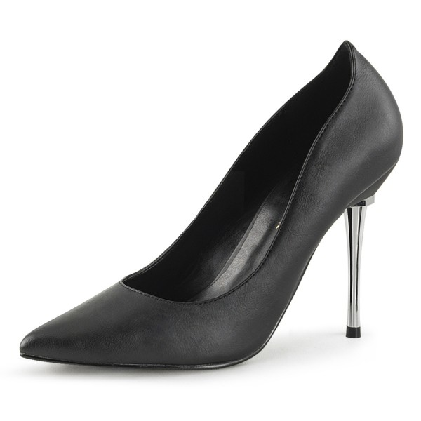 PleaserUSA Damen Stiletto High Heel Pumps Appeal-20 mattschwarz