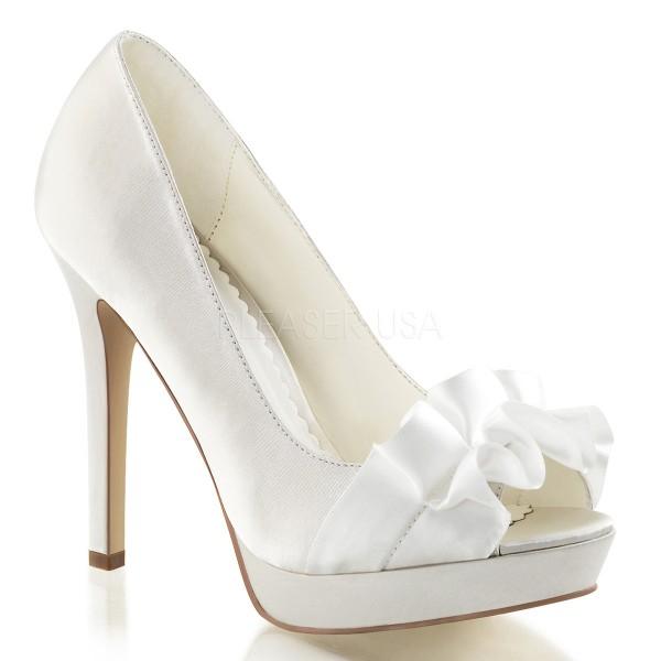SALE! Fabulicious Damen High Heel Pumps Lumina-42 ivory Satin Gr. 37