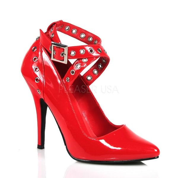 SALE! PleaserUSA Damen High Heels Pumps Seduce-443 Lack rot