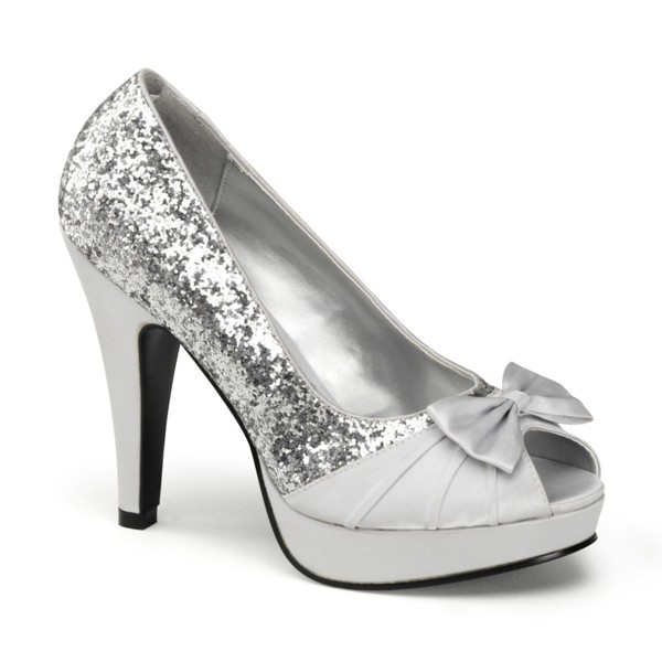 SALE! PinUp Couture High-Heels Pumps Bettie-10 silber Gr.36