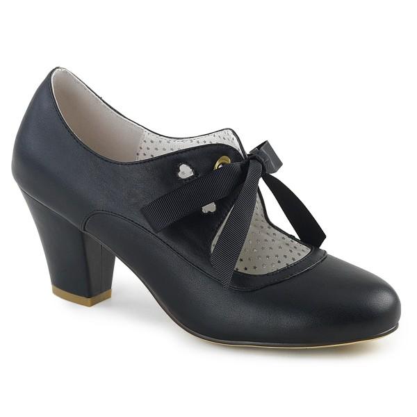 PinUp Couture Damen Mary Janes Pumps mit Schleife Wiggle-32 schwarz