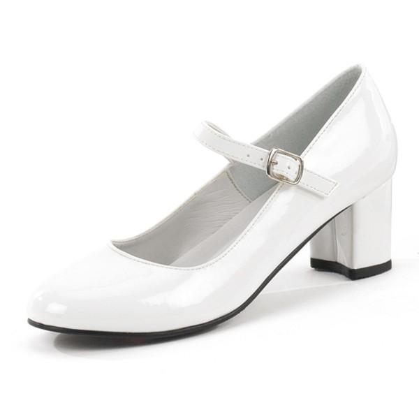 Funtasma Schulmädchen-Schuhe Schoolgirl-50 weiß