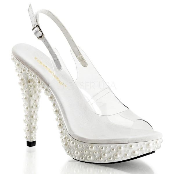 SALE! Fabulicious Damen Slingback-Sandals Cocktail-518 weiß Gr. 40