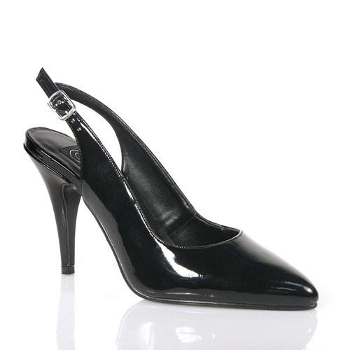 SALE! PleaserUSA Damen High Heel Slingback Pumps Vanity-317 Lack schwarz