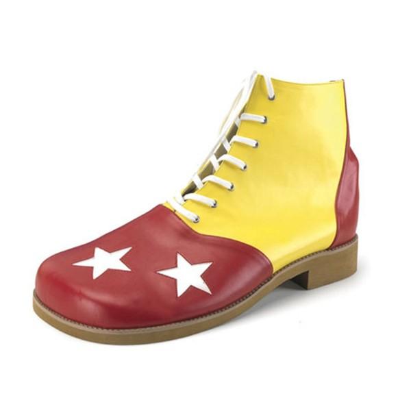 Funtasma Clown-Schuhe Clown-02 rot/gelb