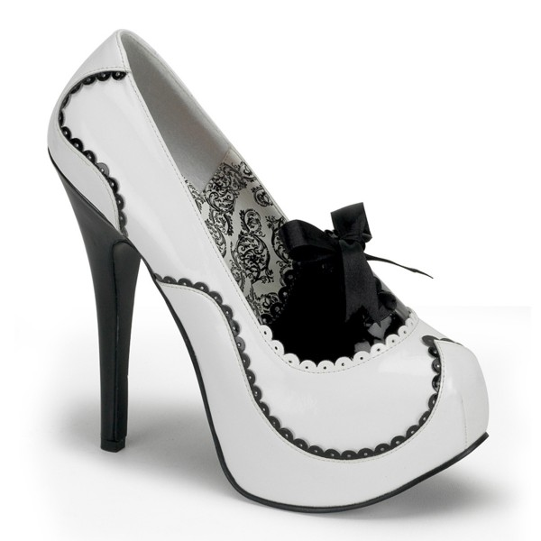 Bordello InStyle-Plateau-Pumps Teeze-01 weiß