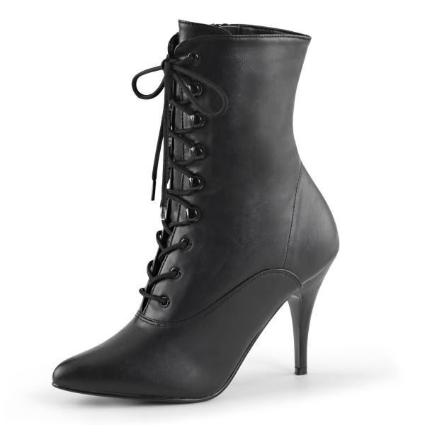 PleaserUSA High Heel-Stiefeletten Vanity-1020 Kunstleder schwarz
