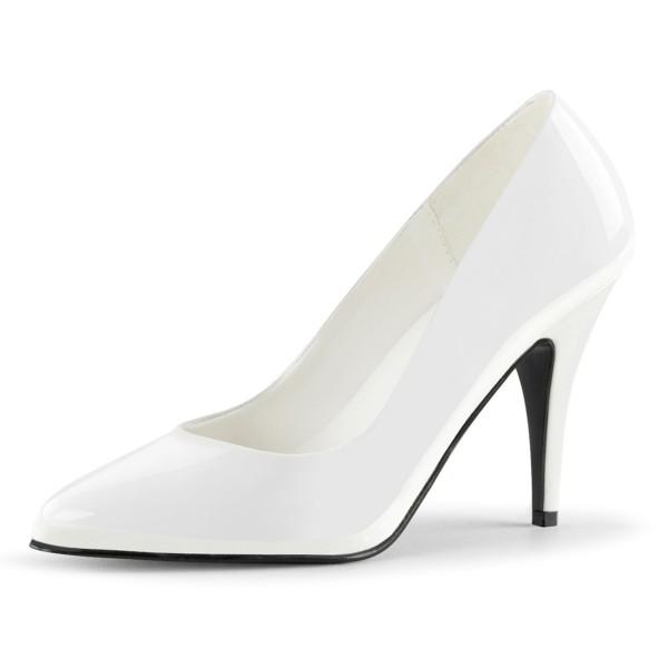 PleaserUSA High Heel-Pumps Vanity-420 Lack weiß