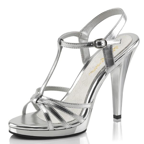 Fabulicious Damen High Heel Sandaletten Flair-420 silber