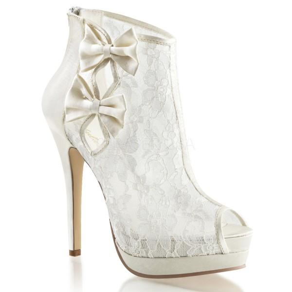 SALE! Fabulicious Damen Plateau-Ankle-Bootie Bella-28 ivory